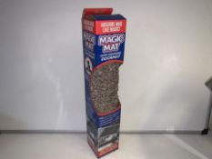 PALLET TO CONTAIN 60 X NEW BOXED MAGIC MATS - SUPER ABSORBANT DOORMATS. JUST STEP TO CLEAN - NO NEED