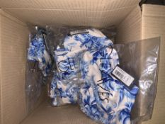 10 X BRAND NEW INDIVIDUALLY PACKAGED FIGLEAVES CHINA BLUE/WHITE TOULOUSE UNDERWIRED HIGH APEX LADDER