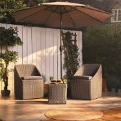 New Boxed - Luxe Luxury Rattan Bistro Set. Whether you have a large garden or a small balcony,
