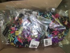25 X BRAND NEW INDIVIDUALLY PACKAGED FIGLEAVES NAVY TROPICAL RIO TROPICAL UNDERWIRED WRAP PLUNGE