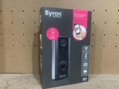 BYRON SMARTWARES BATTERY POWERED WIFI RECHARGEABLE VIDEO DOORBELLS