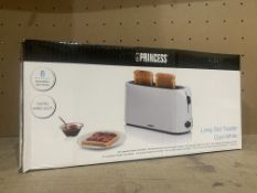 3 X PRINCESS LONG SLOT TOASTERS COOL WHITE RRP £53 EACH