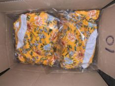 10 X BRAND NEW INDIVIDUALLY PACKAGED FIGLEAVES YELLOW FLORAL BRIONY UNDERWIRED BANDEAU STRAPLESS