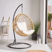 New Boxed - Luxe Rattan Hanging Egg Chair. The ultimate place to curl up with a book, get comfy in