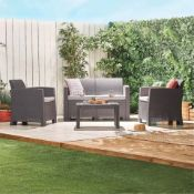 New Boxed - Luxe All-Weather Rattan Sofa Set. Relax, entertain & dine. If you're searching for