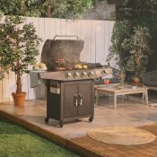 New Boxed - Luxe 4+1 Gas BBQ. Level up your al fresco finding with this large gas BBQ, giving you