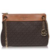BRAND NEW MICHAEL KORS SUSAN BROWN/ACORN SMALL CONVERTIBLE SHOULDER BAG (6235) RRP £359 - 1
