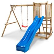 NEW .BLOOMA KIDS FRANEK CHILDRENS PLAYGROUND, 3 YEARS +, 210 X 235 X 280CM. FRAME ONLY - NO