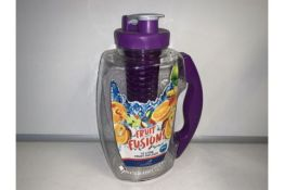 PALLET TO CONTAIN 72 X NEW AQUA FRUIT FUSION INFUSER JUGS. 1.8L. COLOURS MAY VARY