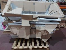 (W4) PALLET TO CONTAIN 6 x ASSORTED BATH TUBS TO INCLUDE SQUARE AND ROUND. ORIGINAL RRP CIRCA £1,
