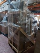 (W9) PALLET TO CONTIAN A LARGE QTY OF BATHROOM GOODS TO INCLUDE: CHROME TOWEL RAIL, QUADRANT