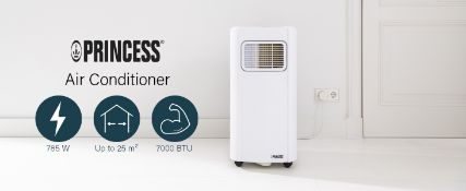 PALLET TO CONTAIN 6 x PRINCESS MOBILE AIR CONDITIONER 7000BTU, 785W, A ENERGY RATED RRP £299.99