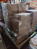 (W11) PALLET TO CONTAIN APPROX. 12 x ASSORTED DESIGNER TOILET PANS. UNCHECKED STOCK