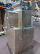 (W13) PALLET TO CONTAIN A LARGE QTY OF VARIOUS ITEMS TO INCLUDE: BATHROOM MIRROR, BASINS, VANITY