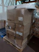 (W12) PALLET TO CONTAIN A LARGE QTY OF ASSORTED BATHROOM STOCK TO INCLUDE TOILET PANS, TOILET