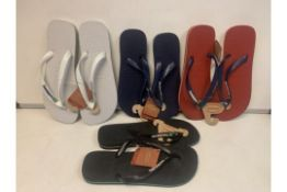 8 X BRAND NEW HAVAIANAS IN VARIOUS STYLES AND SIZES