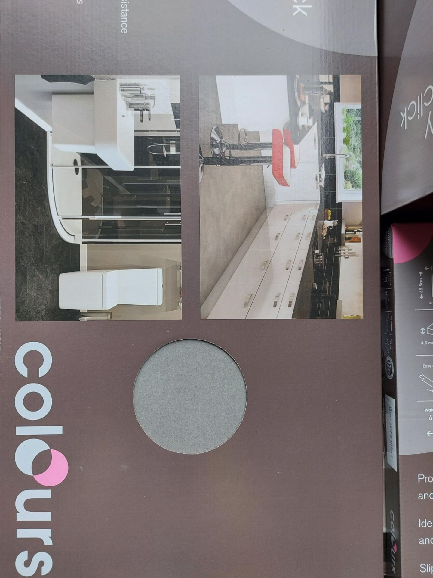 PALLET TO CONTAIN 18 NEW SEALED PACKS OF Grey Stone effect Luxury vinyl click flooring. EACH PACK - Image 4 of 4