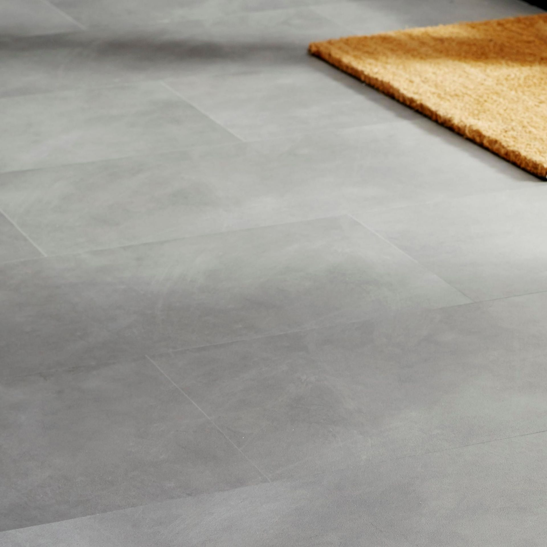 PALLET TO CONTAIN 18 NEW SEALED PACKS OF Grey Stone effect Luxury vinyl click flooring. EACH PACK