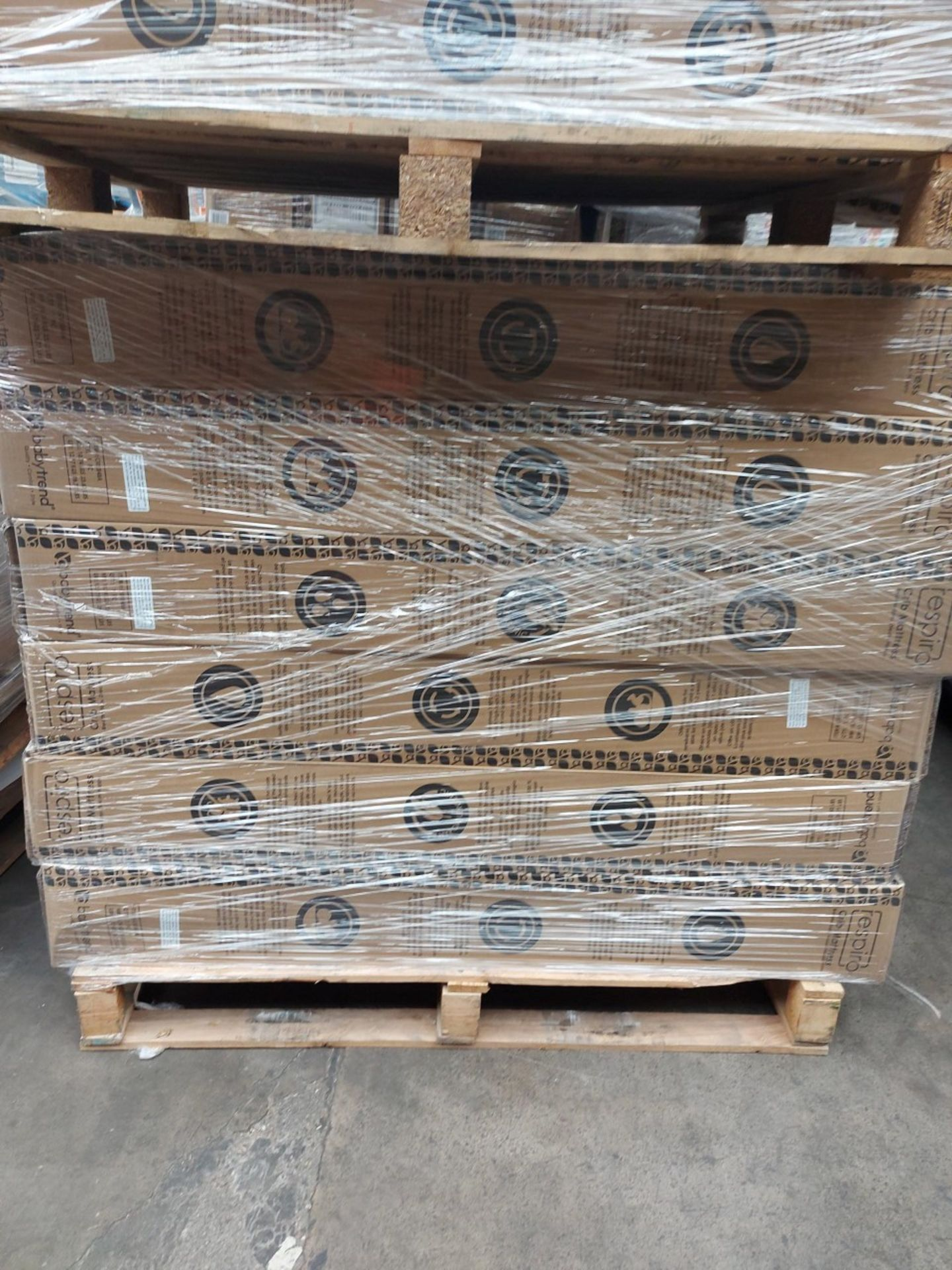 PALLET OF 20 x Brand New Boxed - Baby Trend Respiro Cot Mattress Breathable mesh and Open Air Sides. - Image 2 of 2