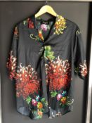 NEW SMALL DSQUARED2 SHORT SLEEVE BUTTON SHIRT RRP £430