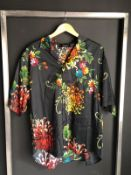 NEW LARGE DSQUARED2 SHORT SLEEVE BUTTON SHIRT RRP £430