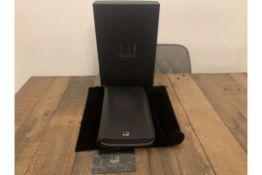 BRAND NEW ALFRED DUNHILL CADOGAN ZIP ORIGINAL BLACK CARD CASE ORGANISER (0255) RRP £525
