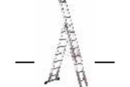 BRAND NEW LUXE 3 EN131 REFORM LADDER (8 + 9 + 9) 2850MM RRP £350 SVLX3 - 8 + 9 + 9