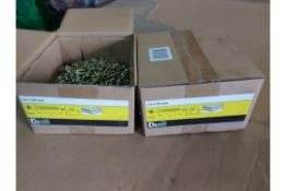 15 X NEW SEALED 4KG BOXES OF DIALL 5x25MM WOOD SCREWS PAN HEAD. RRP £14.97 PER BOX