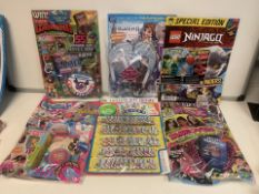 PALLET TO CONTAIN 300 X ASSORTED NEW PACKAGED MAGAZINES WITH GIFTS. VARIOUS DESIGNS MAY INCLUDE: