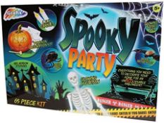 PALLET TO CONTAIN 60 X BRAND NEW GRAFIX SPOOKY PARTY 65 PIECE HALLOWEEN KITS