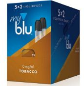 PALLET TO CONTAIN 600 X NEW BOXED PACKS OF 2 MY BLU 1.5ML LIQUIDPODS 0MG/ML TOBACCO ROASTED BLEND