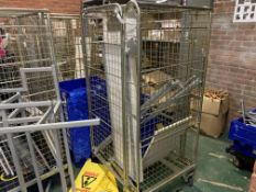 4 X WHEELED METAL CAGES AND CONTENTS