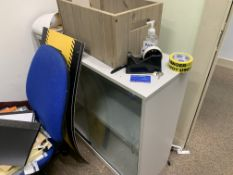FULL CONTENTS OF OFFICE INCLUDNG DESK, CHAIRS, FILING CABINETS, WHITEBOARD ETC