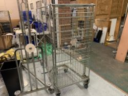 4 X WHEELED METAL CAGES
