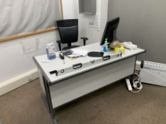 FULL CONTENTS OF OFFICE INCLUDING DESK CHAIRS, MONITOR, PHONE FILING CABINETS ETC