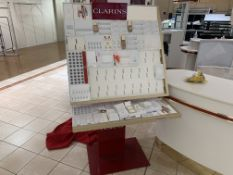 LARGE CLARINS FULL DISPLAY SET UP INCLUDING STOOLS PORTABLE DISPLAY ETC