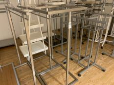 APPROX 20 X ASSORTED DISPLAY STANDS/RAILINGS IN VARIOUS STYLES AND SIZES