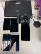 LINX LAPTOP TABLET, 2 X SAMSUNG PHONES, 2 X NOKIA PHONES, 1 X SONY PHONE, 1 X CANON CAMERA ALL FOR