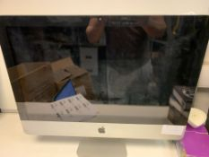 APPLE IMAC ALL IN ONE PC, INTEL CORE i5 2.5 GHZ, 500GB HARD DRIVE, EL CAPITAN OPERATING SYSTEM