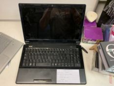 COMPAL BL212 LAPTOP, INTEL COREi7-2620M 2.7 GHZ, WINDOWS 7, 750GB HARD DRIVE WITH CHARGER