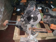 EVOLUTION 185MM SLIDING MITRE SAW (UNCHECKED, UNTESTED)