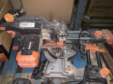 EVOLUTION 255MM SLIDING MITRE SAW (UNCHECKED, UNTESTED)