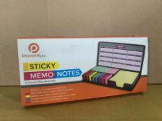 48 X BRAND NEW POWERFULL STICKY MEMO NOTES KITS