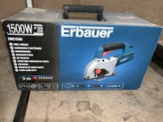 TOOL LOT INCLUDING ERBAUER 1500W WALL CHASER AND ERBAUER CORDLESS ANGLE GRINDER COMES WITH BOXES (