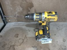 DEWALT CORDLESS BRUSHLESS COMBI DRILL COMES WITH BATTERY (UNCHECKED, UNTESTED) PCK