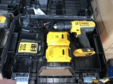 DEWALT DCD776D2T- GB 18V 2.0AH LI-ION XR CORDLESS COMBI DRILL COMES WITH 2 BATTERIES, CHARGER AND