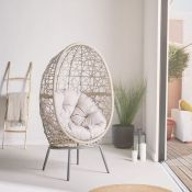 Freestanding Natural Rattan Egg Chair. RRP £549.99. Get cosy on this rattan cocoon chair. (