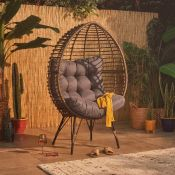 Freestanding Rattan Egg Chair. RRP £549.99. Get cosy on this rattan cocoon chair. 250515. (