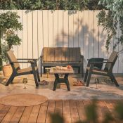 All Weather Plastic Sofa Set. RRP £579.99. Turn your garden into a social hub with the help of