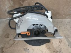 EVOLUTION R185CCSL110 1600W 185MM ELECTRIC MULTI-MATERIAL CIRCULAR SAW 110V COMES WITH BOX (